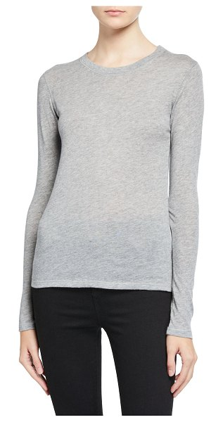 Majestic Cashmere Long-Sleeve Tee in gray