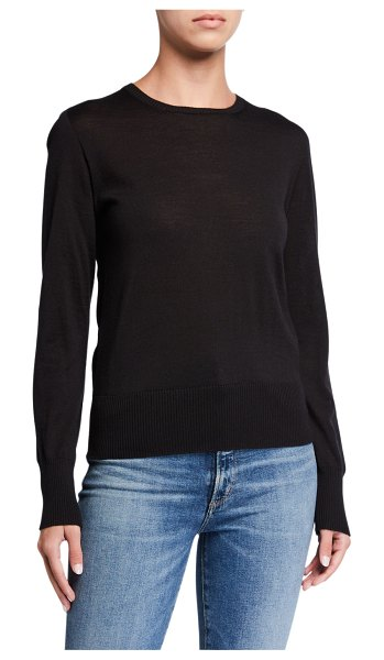 Majestic Filatures Crewneck Long-Sleeve Sweater in noir