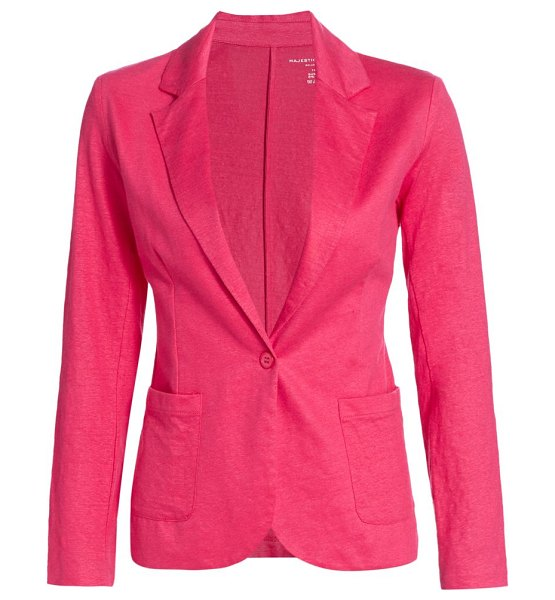 Majestic Filatures stretch linen blazer in rose indien