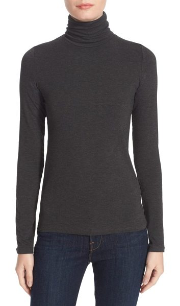 Majestic Filatures turtleneck in anthracite