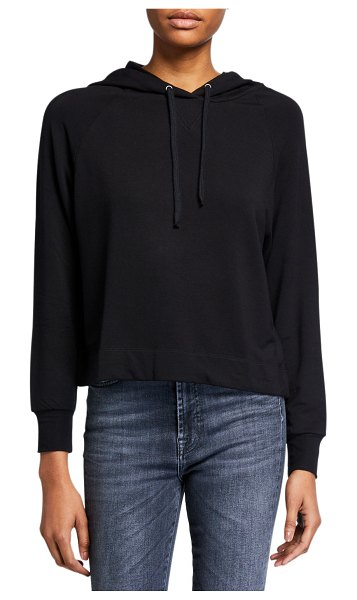 Majestic French Terry Pullover Hoodie in noir