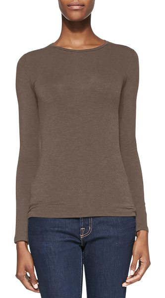 Majestic Filatures Soft Touch Crewneck Top in cafe