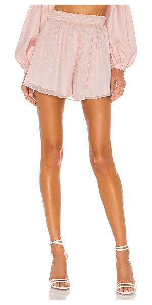 MAJORELLE alexandria short in sparkle pink