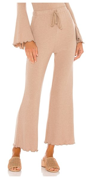 MAJORELLE cropped flare pant in dusty mauve