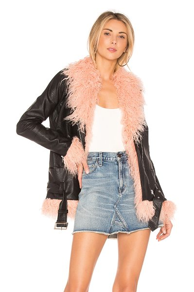 MAJORELLE Fiona Jacket - Faux Fur: 80% acrylic 20% polySelf: 50% cotton 50%...