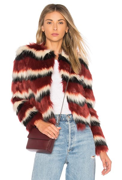 MAJORELLE Luka Faux Fur Coat in red - Faux Fur: 100% acrylicContrast: 100% polyLining: 95%...