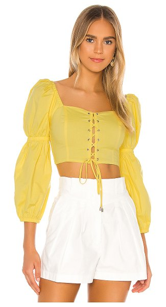 MAJORELLE sienna top in baby yellow