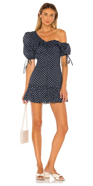 MAJORELLE sonia mini dress in blue dot