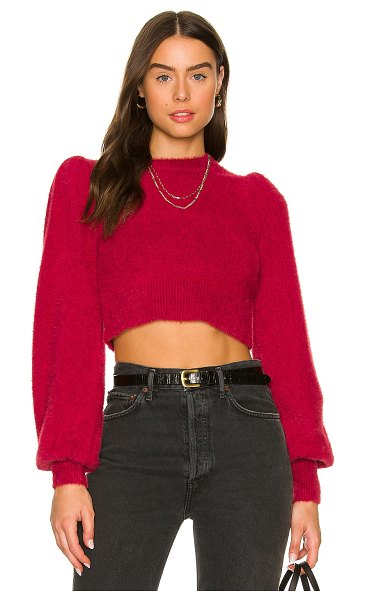 MAJORELLE west end sweater in berry