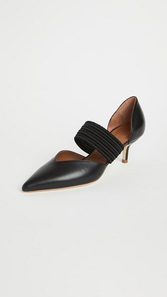 Malone Souliers 45mm maisie pumps in black/black