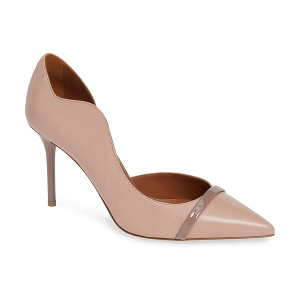 Malone Souliers morrissey wave asymmetrical pump in dove pink