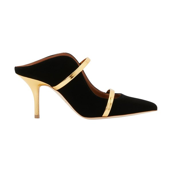 Malone Souliers Maureen 70MM pumps in black/gold - Very feminine, the Maureen 70MM pumps by Malone Souliers...