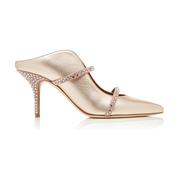 Malone Souliers maureen crystal-embellished metallic leather mules siz in gold