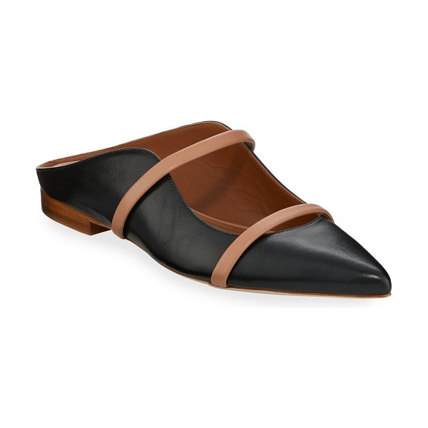 Malone Souliers Maureen Flat Leather Mules in black