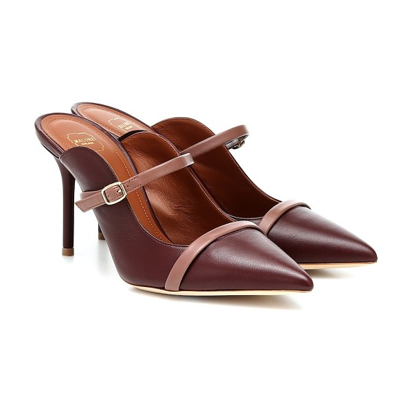 Malone Souliers melody 85 leather mules in brown