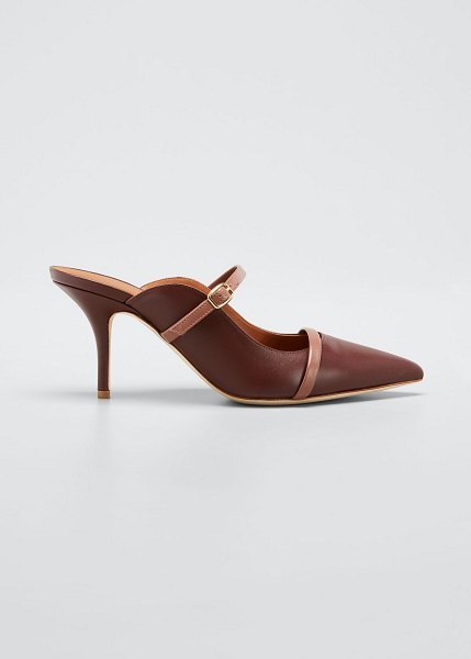 Malone Souliers Melody Leather Pointed-Toe Mules in purple