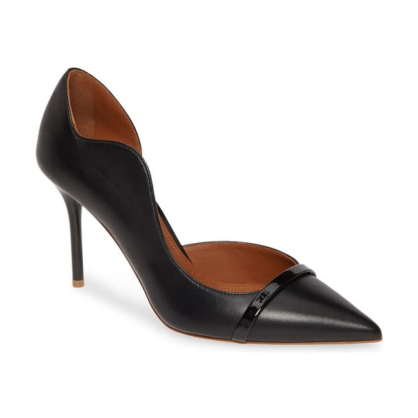 Malone Souliers morrissey wave asymmetrical pump in black/ black