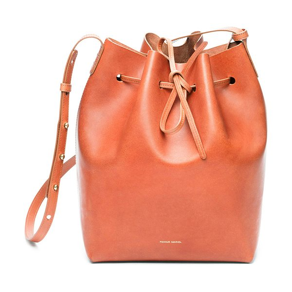 """MANSUR GAVRIEL Bucket Bag - """"Vegetable tanned leather with raw lining and gold-tone..."""