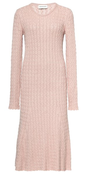 Mansur Gavriel cableknit knee-length sweater dress in pink