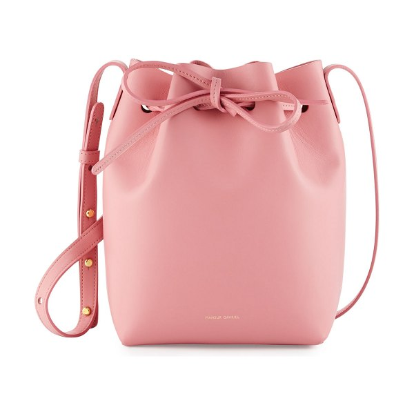 Mansur Gavriel Calf Leather Mini Bucket Bag in rose - Mansur Gavriel calf leather bucket bag. Available in...