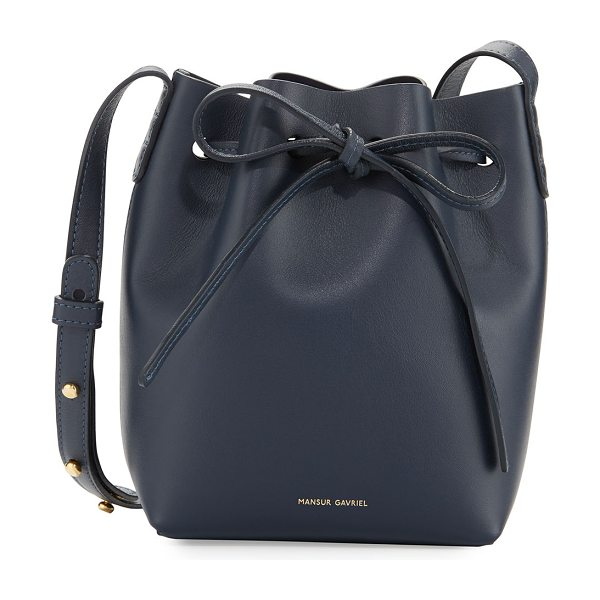 Mansur Gavriel Calf Leather Mini Mini Bucket Bag in navy - Mansur Gavriel Italian calf leather bucket bag....