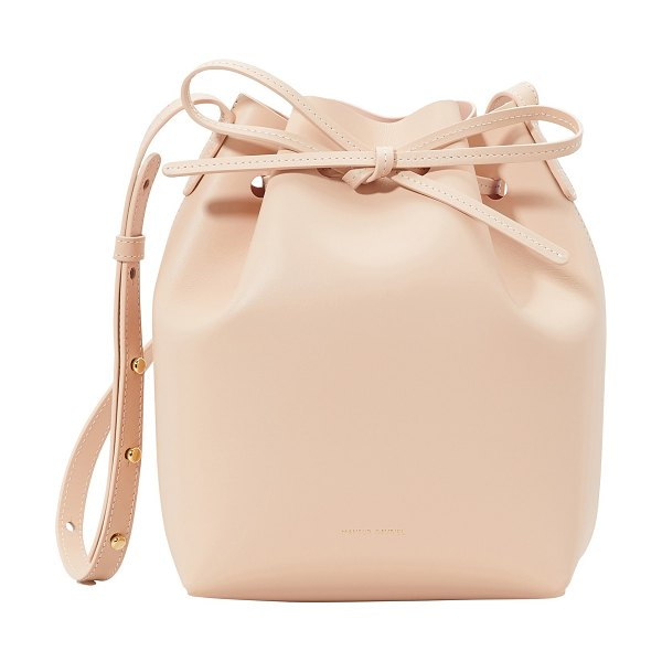 Mansur Gavriel Mini bucket bag in rosa