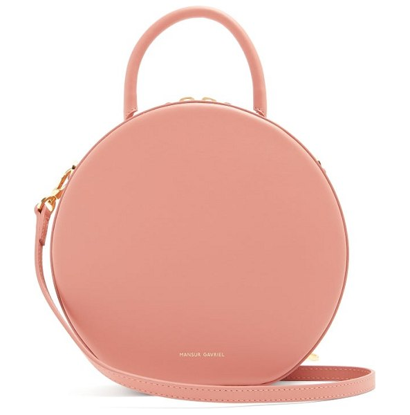 Mansur Gavriel circle leather cross body bag in light pink