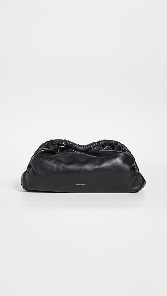 Mansur Gavriel cloud clutch in black/flamma