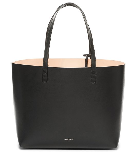 "MANSUR GAVRIEL Coated Large Tote - ""Vegetable tanned leather with light pink matte patent..."