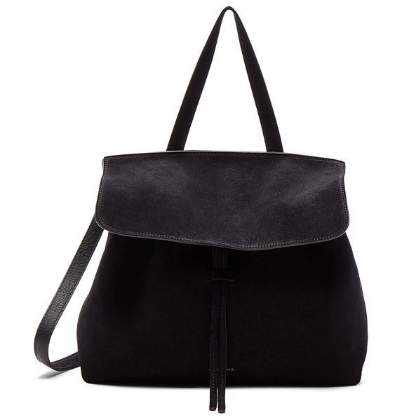 "MANSUR GAVRIEL Lady Bag in black - ""Italian suede with leather lining and gold-tone..."
