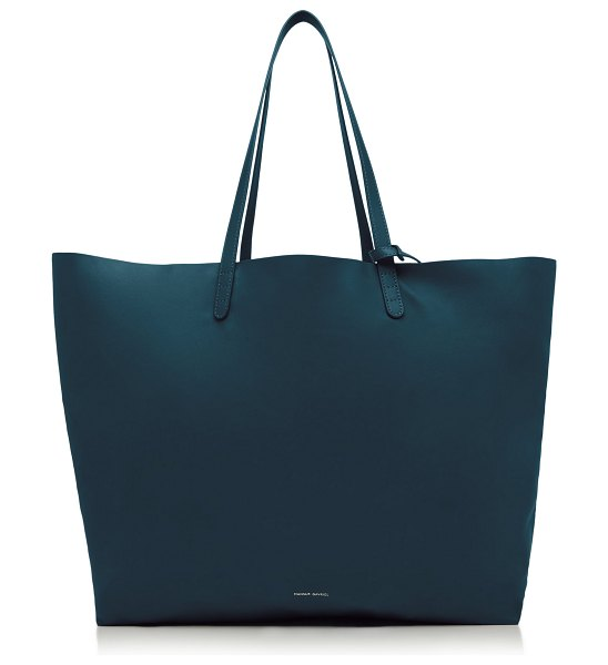Mansur Gavriel large leather tote in green