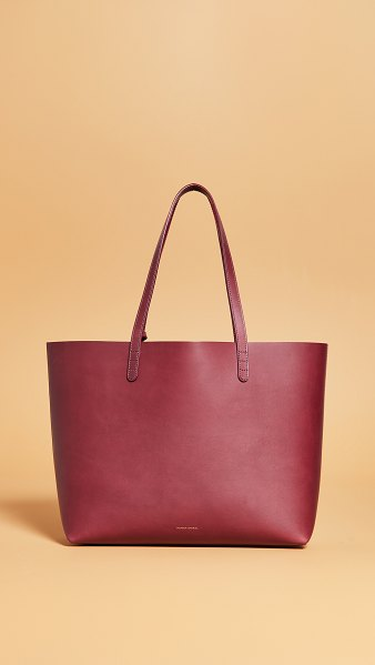 Mansur Gavriel large tote bag in bordo