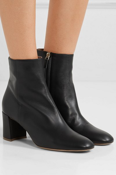 Mansur Gavriel leather ankle boots in black - Shoe trends come and go, but nothing is more reliable...