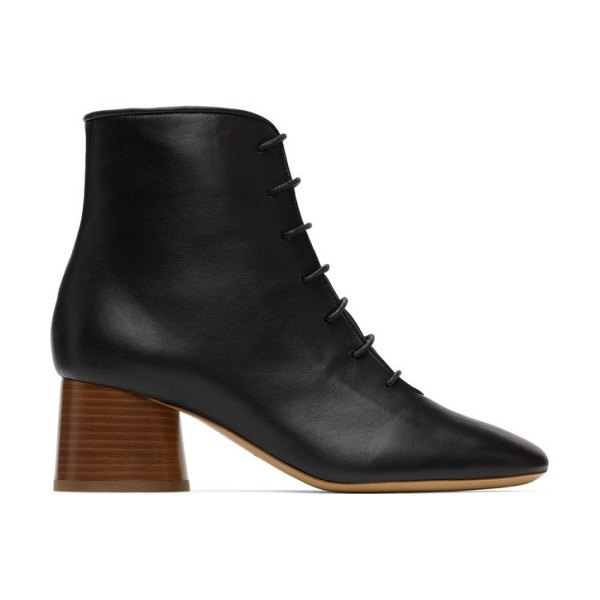 Mansur Gavriel leather lace-up boots in black