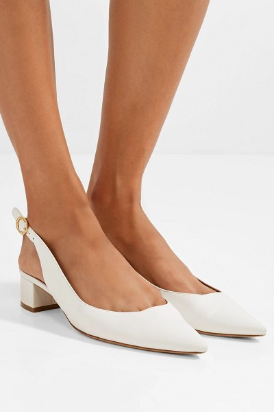 Mansur Gavriel leather slingback pumps in white