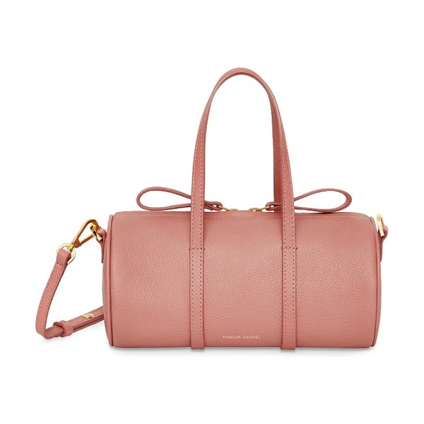 Mansur Gavriel mini mini leather duffel bag in blush - Made from Italian tumbled leather with a pebbled finish...