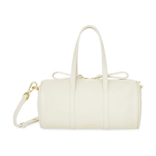 Mansur Gavriel mini mini leather duffel bag in ivory - Made from Italian tumbled leather with a pebbled finish...