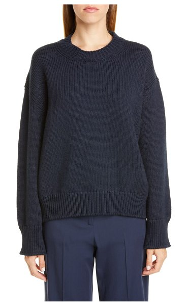 Mansur Gavriel oversize wool sweater in blue