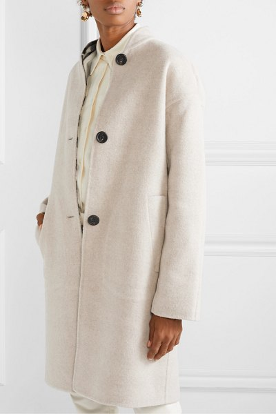 Mansur Gavriel reversible checked wool coat in black