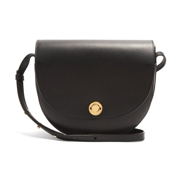 Mansur Gavriel saddle leather shoulder bag in black