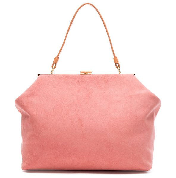 "Mansur Gavriel Soft Elegant Bag in pink - ""Italian suede with raw lining and gold-tone hardware. ..."