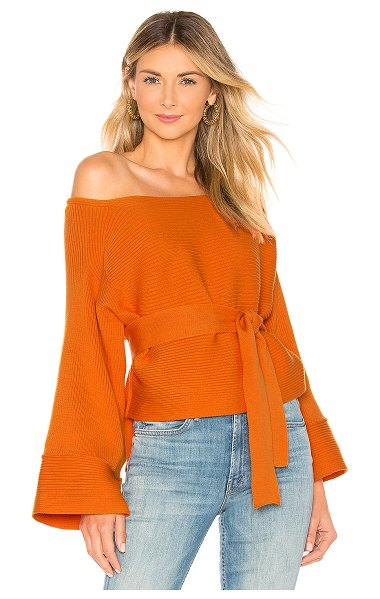 Mara Hoffman Lilou Top in orange - Cotton blend. Hand wash cold. Rib knit fabric. Oversized...