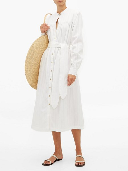 Mara Hoffman priscilla belted organic cotton shirtdress in white