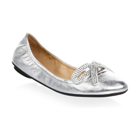 MARC JACOBS willa strass leather ballet flats - Delicately embellished ballet flats in leather. Leather...