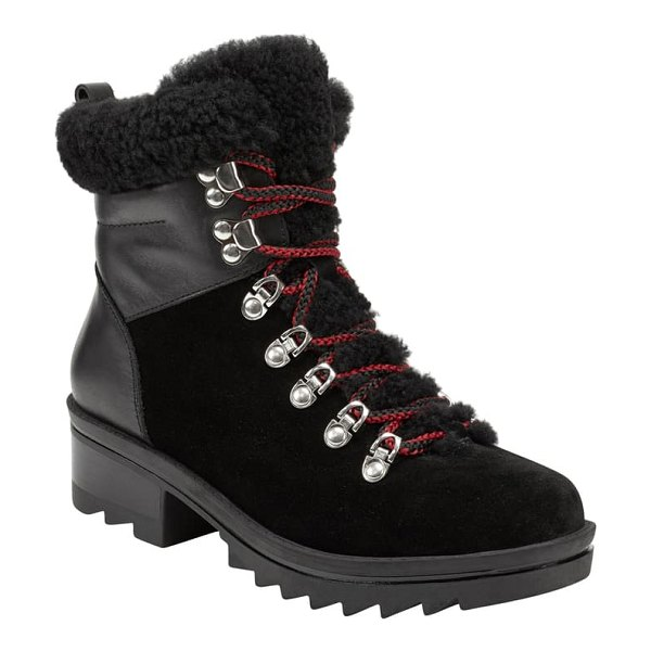 MARC FISHER LTD brylee water resistant boot in black suede
