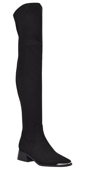 MARC FISHER LTD darwin over the knee boot in black fabric