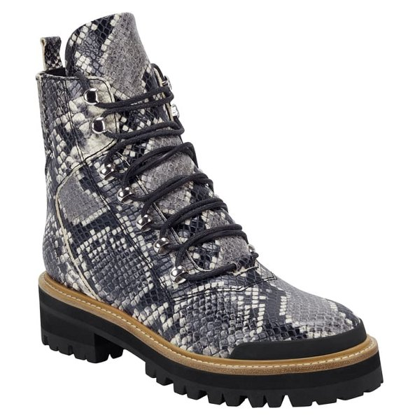 MARC FISHER LTD izzie 2 combat boot in roccia leather