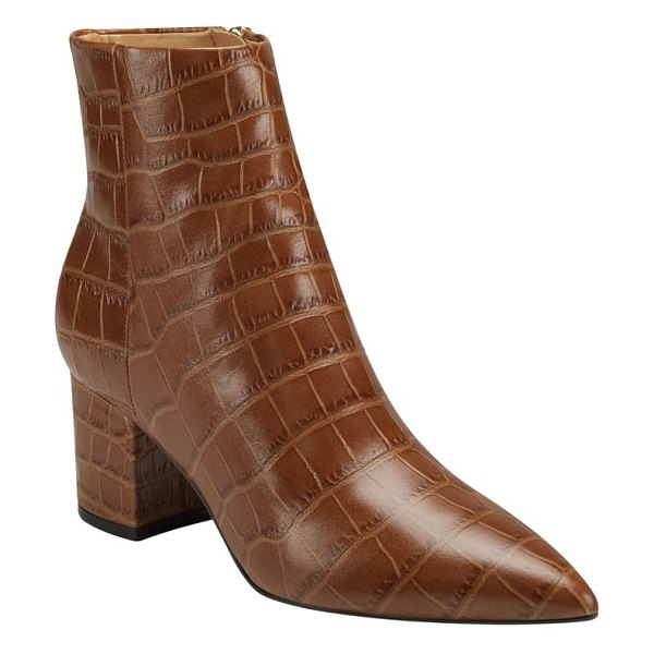 MARC FISHER LTD jarli bootie in new luggage leather