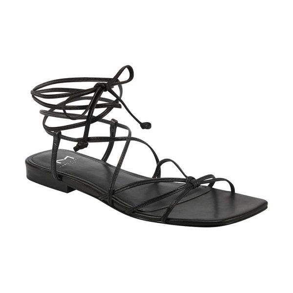 MARC FISHER LTD marina lace-up sandal in black leather