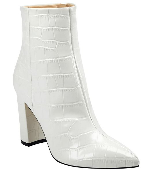 MARC FISHER LTD ulani pointy toe bootie in chic cream leather